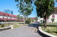 FortRotterdam museum i den Makassar staden, Sulawesi fotografering för bildbyråer