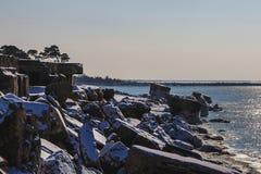 Forts brisés en hiver Photographie stock libre de droits