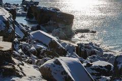 Forts brisés en hiver Images libres de droits