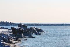 Forts brisés en hiver Photo libre de droits