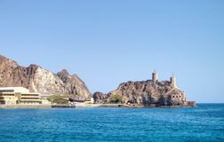 Forts on the coast of Oman royalty free stock photography
