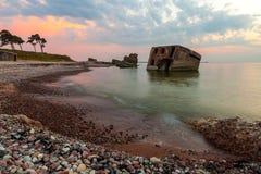 Forts du nord après coucher du soleil Photo stock