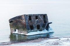 Forts ruinés en hiver Photo libre de droits
