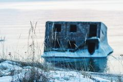 Forts ruinés en hiver Photo stock