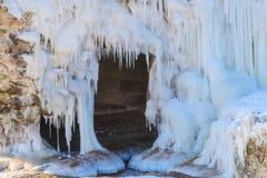 Forts ruinés en hiver Photographie stock libre de droits