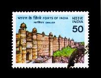 Forts von Indien Gwalior, serie, circa 1984 Lizenzfreies Stockbild