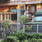 Fortsatt väggmålning Fotografering för Bildbyråer
