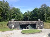 FortSchoenenbourg del av den Maginot linjen, Alsace, Frankrike Royaltyfria Bilder