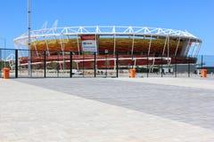 Fortschritt des Baus des Rio-Olympiaparks 2016 Stockbild