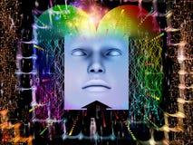 Fortschritt des Supermenschen AI Stockbilder