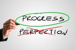 Fortschritt - Perfektion - Konzept lizenzfreies stockbild