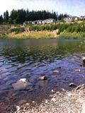 Fortschritt Ridge Pond Stockbilder