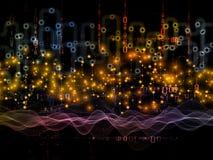 Fortschritt von Datenübertragungen Stockfotos