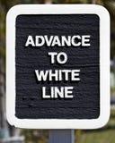 Fortschritt zur weißen Zeile Stockfoto