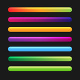 Fortschritts-Stange eingestellt für Spiele. Stockfotos