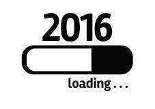 Fortschritts-Stangen-Laden mit dem Text: 2016 Lizenzfreies Stockfoto