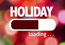 Fortschritts-Stangen-Laden mit dem Text: Feiertag Stockbilder