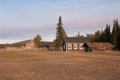 FortSelkirk historisk plats Arkivfoto