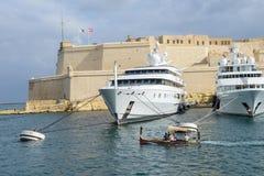 FortSt Angelo, i Vittoriosa, Malta Royaltyfri Foto
