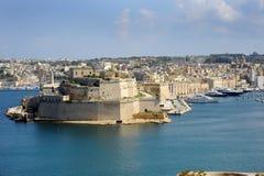 Storslagen hamn Malta. Arkivfoto