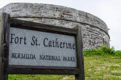 FortSt Catherine, Sts George ö, Bermuda Arkivbild