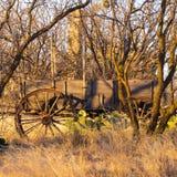 Fortu Fikcyjnego wzgórza zaniechany furgon zdjęcie royalty free