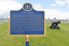 Fortu Henry znak, Ontario, Kanada obrazy stock