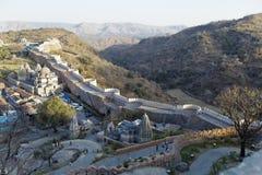 fortu ind kumbhalgarth Rajasthan wioski ściany obrazy royalty free