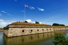 Fortu Monroe Krajowy zabytek obrazy royalty free
