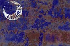 Fortu Moultrie miasta dymu flaga, Południowa Karolina stan, Zlany Stat zdjęcie royalty free