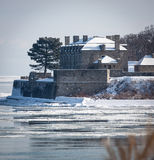 Fortu Niagara zimy dzień fotografia royalty free
