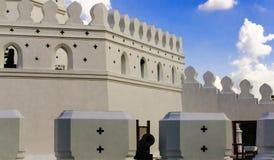 Fortu średniowieczny forteca w Bangkok Tajlandia Fotografia Royalty Free