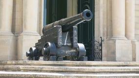 Fortu Sant Angelo wejścia pistolet, Malta, Valletta Zdjęcie Royalty Free