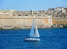 Fortu St Elmo i jacht, Valletta Zdjęcia Stock