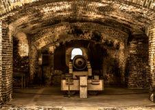 Fortu Sumter Sławny działo obraz stock