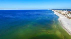 Fortu Walton plaży widok z lotu ptaka, FL zdjęcie stock