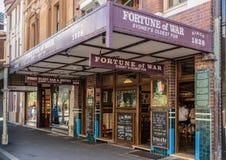 Fortuin van Oorlog, oudste bar in stad, Sydney Australia stock afbeeldingen