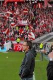 Fortuna Düsseldorf v Hertha BACCALAUREUS IN DE EXACTE WETENSCHAPPEN Berlijn. Stock Foto's
