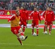 Fortuna Düsseldorf v Hertha BACCALAUREUS IN DE EXACTE WETENSCHAPPEN Berlijn. Royalty-vrije Stock Afbeelding