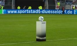 Fortuna Düsseldorf v Hertha BACCALAUREUS IN DE EXACTE WETENSCHAPPEN Berlijn. Royalty-vrije Stock Fotografie