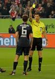 Fortuna Düsseldorf v Hertha BACCALAUREUS IN DE EXACTE WETENSCHAPPEN Berlijn. Stock Fotografie