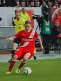 Fortuna Düsseldorf v Hertha BACCALAUREUS IN DE EXACTE WETENSCHAPPEN Berlijn. Stock Afbeeldingen