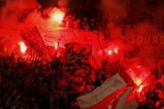 Fortuna Düsseldorf v Hertha BACCALAUREUS IN DE EXACTE WETENSCHAPPEN Berlijn. Royalty-vrije Stock Foto's
