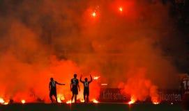 Fortuna Düsseldorf v Hertha BACCALAUREUS IN DE EXACTE WETENSCHAPPEN Berlijn. Royalty-vrije Stock Foto