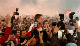 Fortuna Düsseldorf v Hertha BSC Berlin. Stock Photos