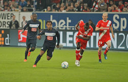 Fortuna Düsseldorf v Hertha BSC Berlin. Stock Photography