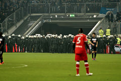 Fortuna Düsseldorf v Hertha BSC Berlino. Immagine Stock