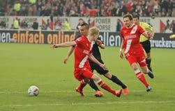 Fortuna Düsseldorf v Hertha BSCA Berlín. Fotografía de archivo libre de regalías