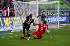 Fortuna Düsseldorf verses SC Фрайбург Стоковая Фотография RF