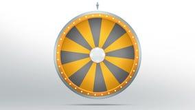 Fortuna da roda com espaço 16 ilustração royalty free